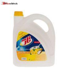 مایع ظرفشویی تاژ حاوی جوش شیرین با رایحه لیمو زرد
