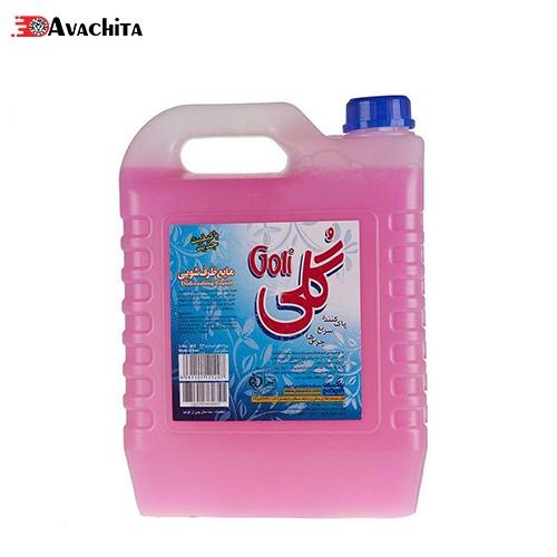 مایع ظرفشویی گلی صورتی مقدار 4 کیلوگرمی