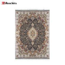 فرش ماشینی زمرد مشهد طرح ۴۰۰۰۰ زمینه سرمه ای